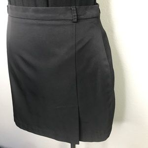 BCBGMaxAzria Black Front Slit Mini Skirt A090227